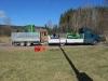 Lastbil med fräs och grävare